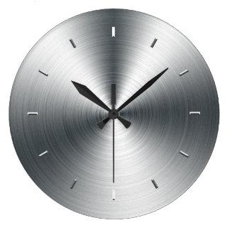 Faux Brushed Sheet Metal Wall Clock