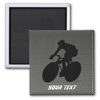 Faux Carbon Fiber Cycling Magnet