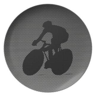 Faux Carbon Fiber Cycling Plate