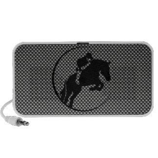Faux Carbon Fiber Equestrian Mp3 Speakers