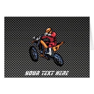 Faux Carbon Fiber Motocross Card