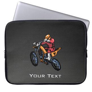 Faux Carbon Fiber Motocross Laptop Sleeve