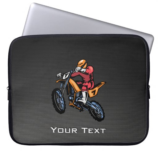 Faux Carbon Fiber Motocross Computer Sleeve