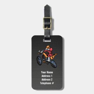 Faux Carbon Fiber Motocross Luggage Tag