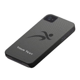 Faux Carbon Fiber; Running iPhone 4 Covers