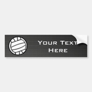Faux Carbon Fiber Volleyball Bumper Sticker