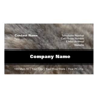 Faux Cat Fur look Pack Of Standard Business Cards