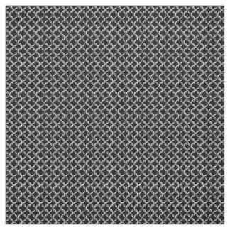 Faux Chainmail Black and Gray Mesh Look Fabric