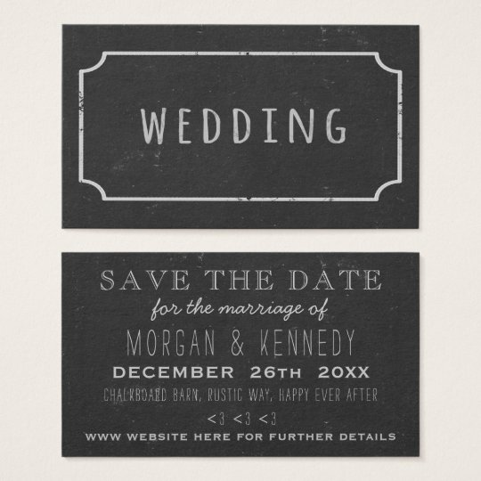 Faux Chalk Frame Chalkboard Wedding Save The Date