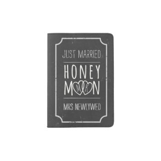 Faux Chalkboard Honeymoon Passport Holder