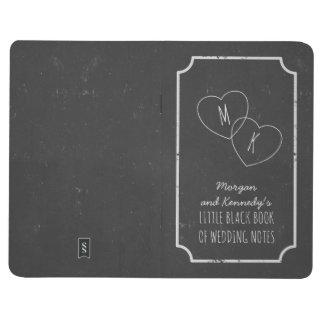 Faux Chalkboard Little Black Book of Wedding Notes
