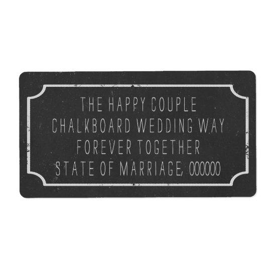 Faux Chalkboard Style Wedding Large Address Labels