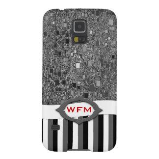 Faux Chrome Mini Box Background Template Galaxy S5 Cover