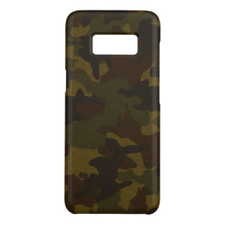 Faux Cloth Brown Camo Military Samsung S7 Cases