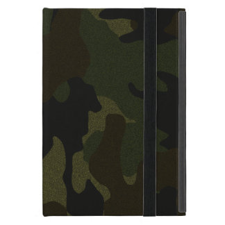 Faux Cloth Dark Green Camo Powis iPad Mini Case