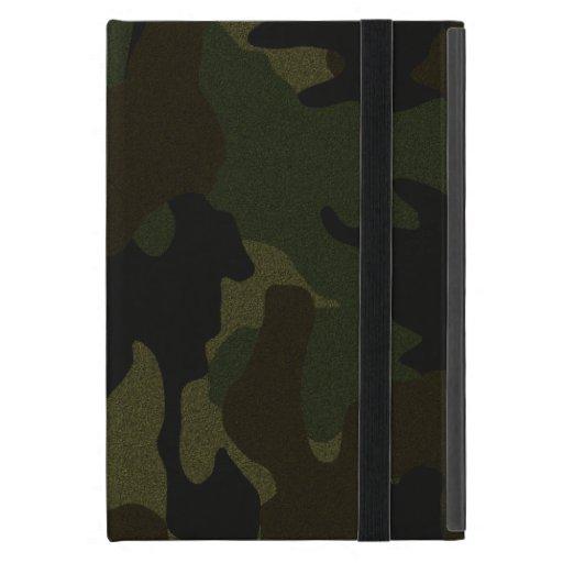Faux Cloth Dark Green Camo Powis iPad Mini Case iPad Mini Case