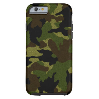 Faux Cloth Green Camo Military Tough iPhone 6 6S Tough iPhone 6 Case