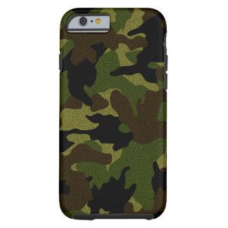 Faux Cloth Green Camo Military Tough iPhone 6 6S Tough iPhone 6 Case