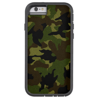 Faux Cloth Green Camo Military Xtreme iPhone6 6S Tough Xtreme iPhone 6 Case