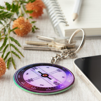 Faux Compass just an image Key Ring