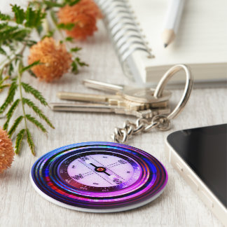 Faux Compass Key Ring