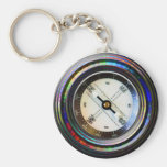 Faux Compass Keychain