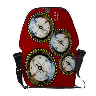 Faux Compass monogrammed Commuter Bag