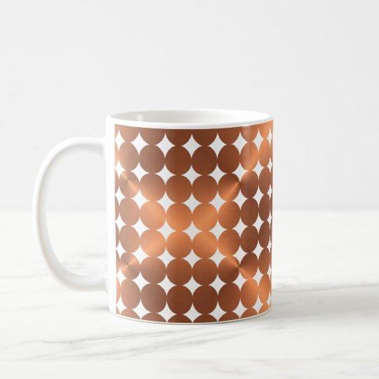 Faux copper dots design coffee mug
