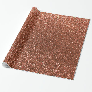 Faux Copper glitter Wrapping Paper