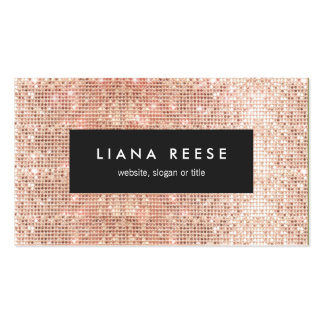 FAUX Copper Gold Sequins Beauty Salon Pack Of Standard Business Cards