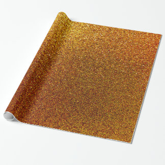 Faux Copper Gold Yellow Glitter Background Sparkle Wrapping Paper