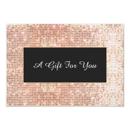 Faux Copper Sequins Spa and Salon Gift Certificate