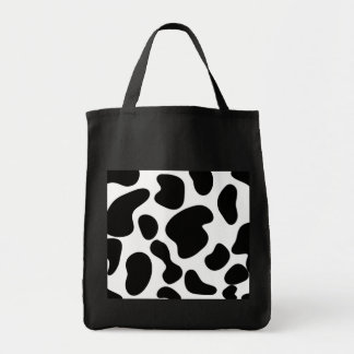 Faux Cow Hide Pattern Grocery Tote Bag