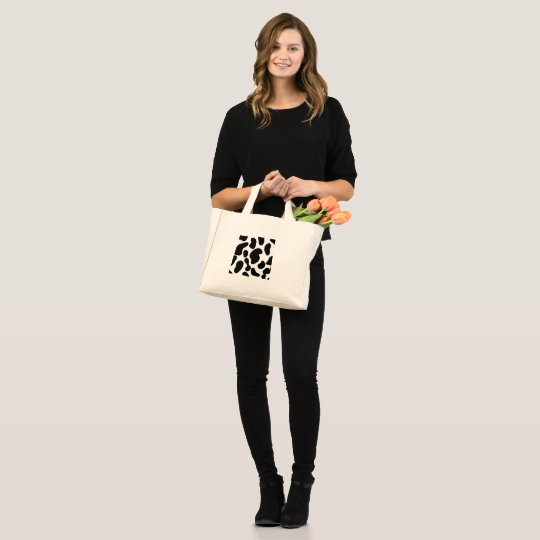 Faux Cow Hide Pattern Mini Tote Bag