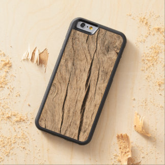 Faux Cracked Tree Bark Carved Maple iPhone 6 Bumper Case