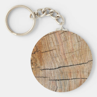 Faux Cracked Tree Rings Key Ring