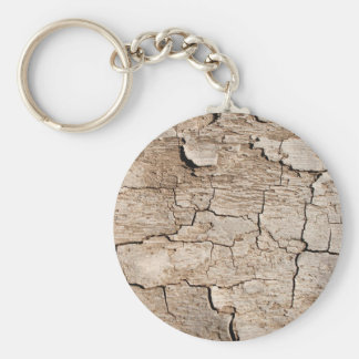 Faux Cracked Wood Key Ring
