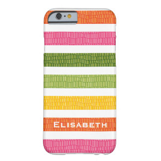 Faux Croc Multi Stripe Barely There iPhone 6 Case