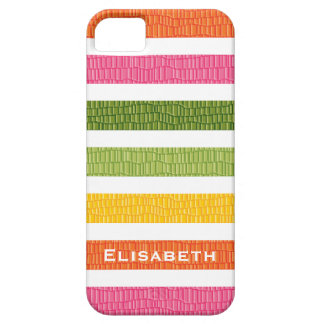 Faux Croc Multi Stripe iPhone 5 Covers