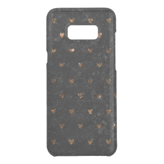 Faux Crushed Velvet Metallic Petite Copper Hearts Uncommon Samsung Galaxy S8 Plus Case