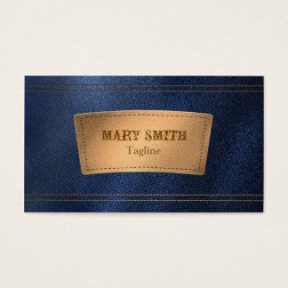Faux Denim & Leather Boutique Business Card