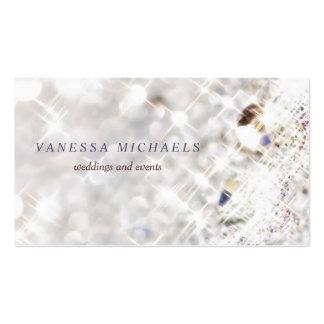 Faux Diamond Bling Glitter Bokeh Event Planner Pack Of Standard Business Cards