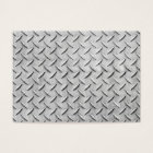 Faux Diamond Plating Background Business Card