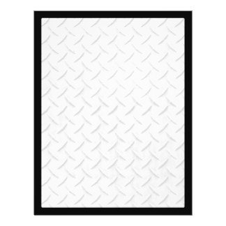 Faux Diamond Plating Background Full Color Flyer