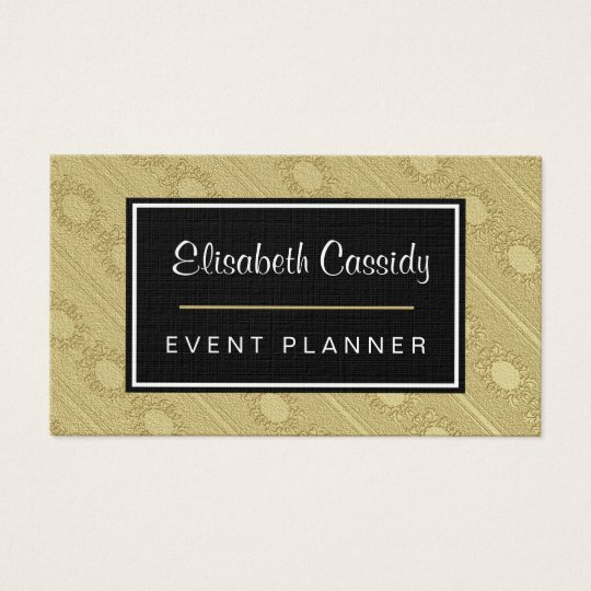 Faux Embossed Gold Pattern 2-Sided Business Card