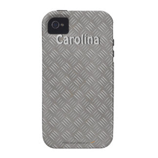 Faux Embossed Metal Pattern Custom Name iphone 4g iPhone 4/4S Covers