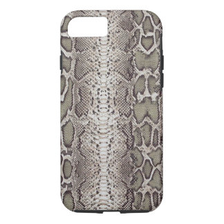 Faux / Fake snakeskin, greens and grays iPhone 8/7 Case