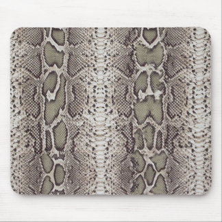 Faux / Fake snakeskin, greens and grays Mouse Mat