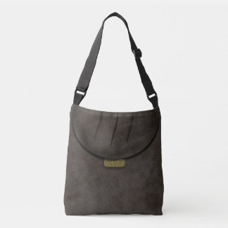 Faux Flap Dark Brown 3D Monogram Cross Body Bag