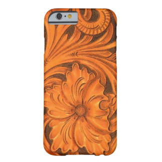 Faux Floral Tooled Leather Horse Saddle Barely There iPhone 6 Case